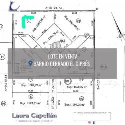 """EN VENTA LOTE BARRIO CERRADO """"EL CIPRÉS"""" - CIPOLLETTI"""